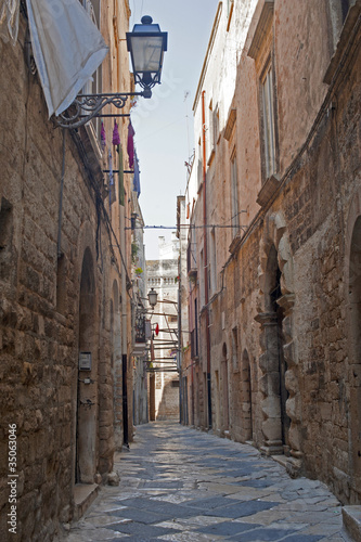 Bisceglie (Apulia, Italy) - Old street and cathedral Wallpaper Mural