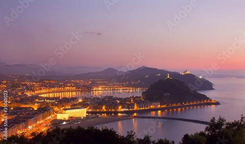 Fotografie, Obraz  Evening in Donostia, San Sebastian, Gipuzkoa