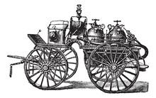 Horse-driven Fire Wagon, Vinta...