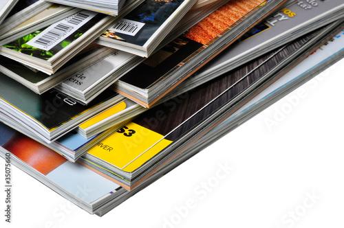 Pile of Magazines Canvas Print