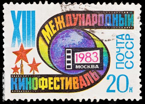 Fotografie, Obraz  USSR - CIRCA 1983: International Film Festival 1983