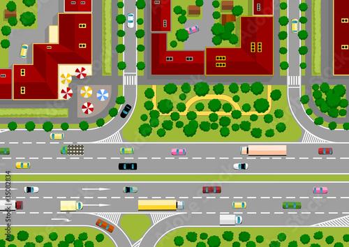 Poster de jardin Route highway in the city