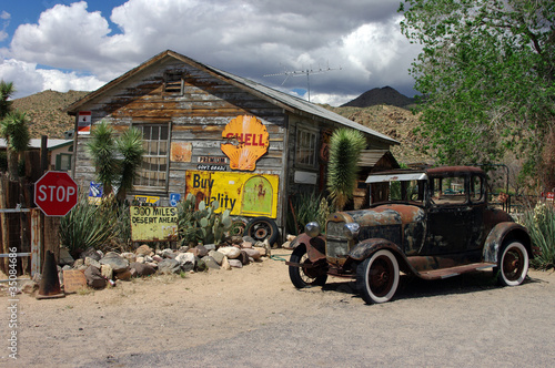 In de dag Route 66 wild Arizona installation