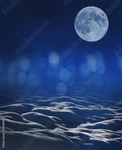 Fototapety, obrazy: winter night background