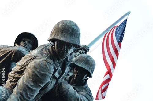 Zdjęcie XXL USA korpusu piechoty morskiej pomnik w washington dc usa