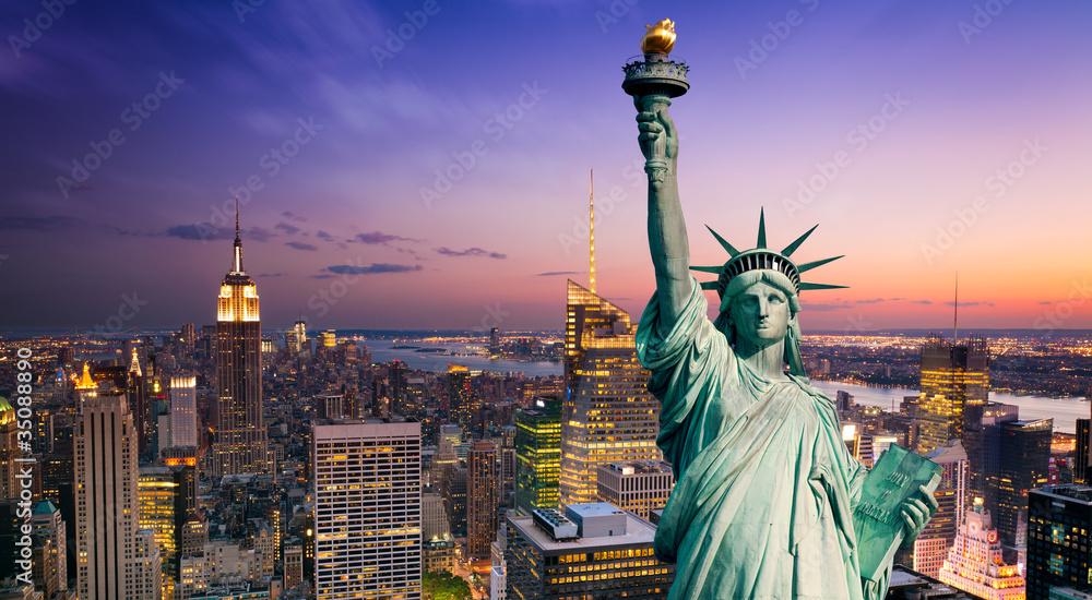 Fototapety, obrazy: New York statue de la Liberté