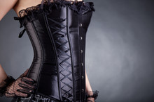 Close-up Of Woman In Black Cor...