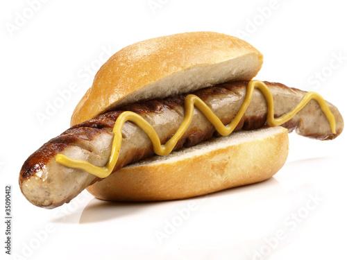 Fototapeta Bratwurst mit Senf obraz