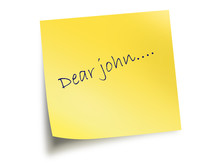 Yellow Post It Note With The T...