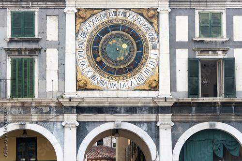 Poster Artistiek mon. Brescia (Lombardy, Italy), Historic building in Loggia Square, c