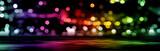 Fototapeta Rainbow - Abstract city lights
