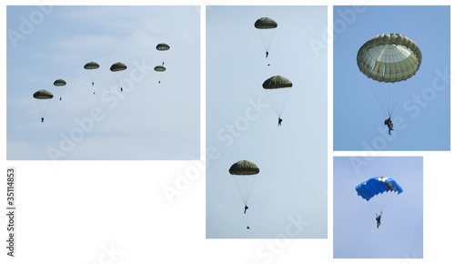 Canvas Print Paratroopers, Group and independent