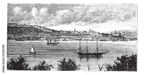 Photographie  Quebec, Canada, in the 1800s,  vintage engraving.