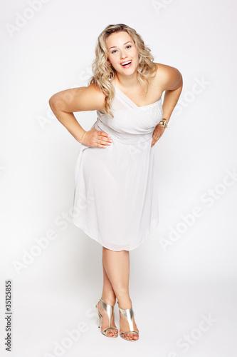 Photo  beautiful plus size woman