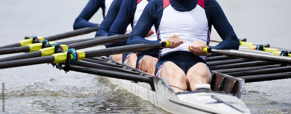 Fototapeta Rowing team