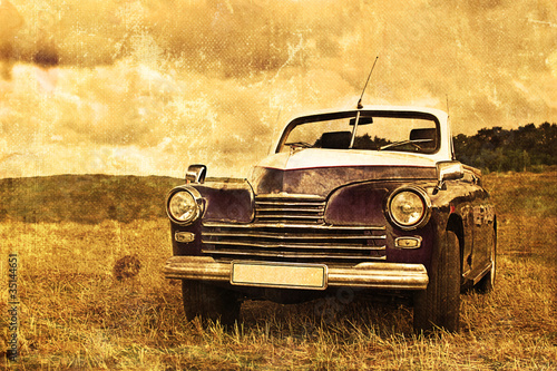 Poster Vintage voitures old car
