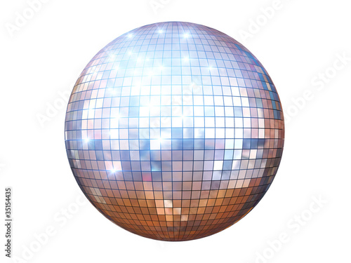 Spoed Foto op Canvas Bol disco ball isolated