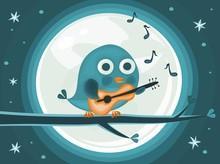 A Bird At Night Singing A Song