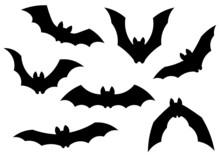 Silhouetten Von Fledermäusen