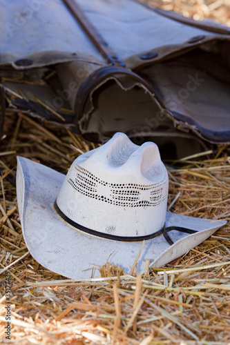Cowboy hat on ground. - Buy this stock photo and explore similar ... 04ac60c891c