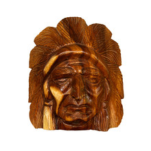 Indian  Red Wood Carving