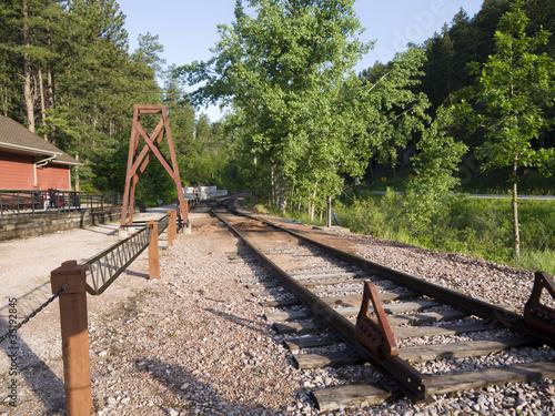 Fotografia, Obraz  Railway Line in Keystone in Dakota USA