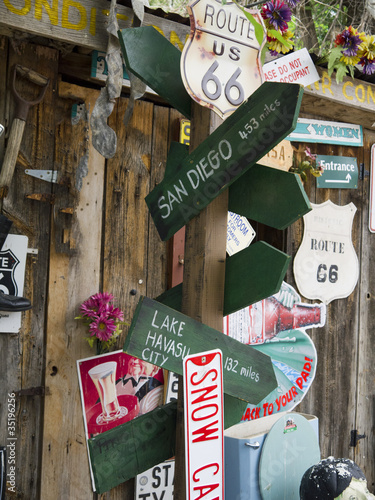 Keuken foto achterwand Route 66 Comic Mock up in Seligman Arizona on Route 66 USA