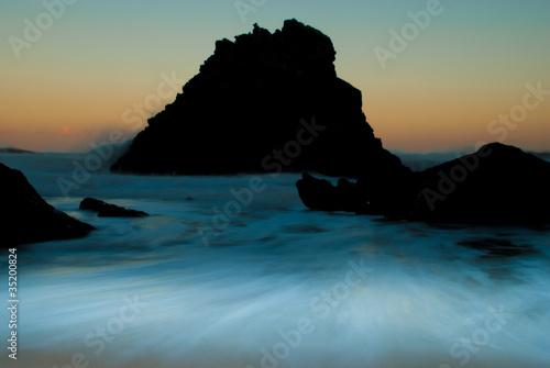 Fotografie, Obraz  silhuetas no mar