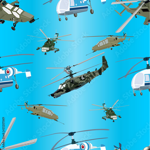 Poster Militaire Helicopters