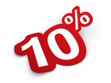 Percent Sticker 3d Render Illu...