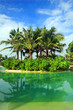 Artificial Island and sea in resort bali style