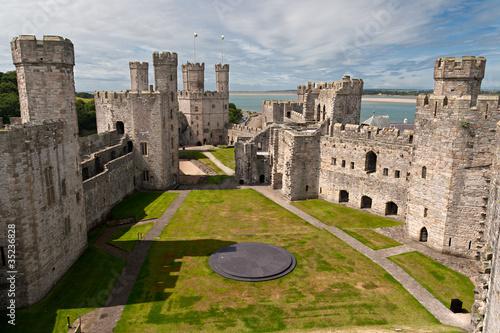 Caernarfon castle in Snowdonia, Wales #35236828