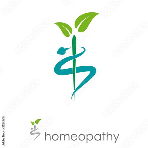 Fotografia  Logo homeopathy, alternative medicine # Vector