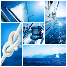 Yacht Collage. Sailboat. Yacht...