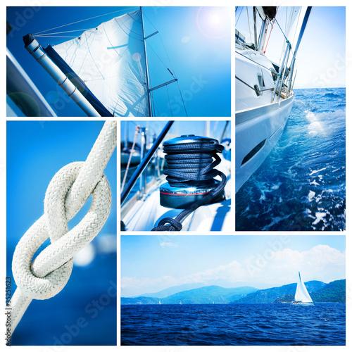 kolaz-jachtu-zaglowka-koncepcja-zeglarstwa