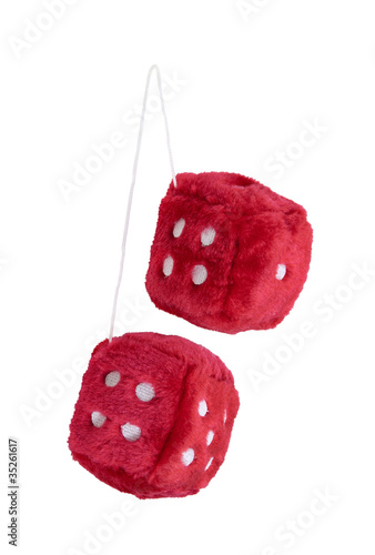 Photo  Red Fuzzy Dice