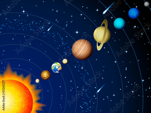 Door stickers Cosmos Solar system
