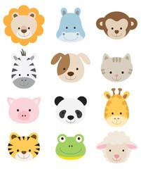 Baby Animal Faces Set