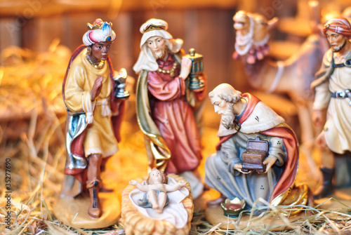 Tableau sur Toile Weihnachtskrippe