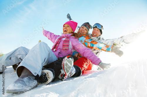 Poster Wintersporten snow games