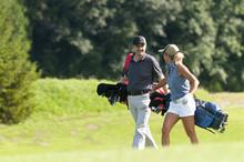 Gute Laune Auf Dem Golfplatz