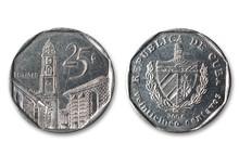 Cuban Coins Isolated.