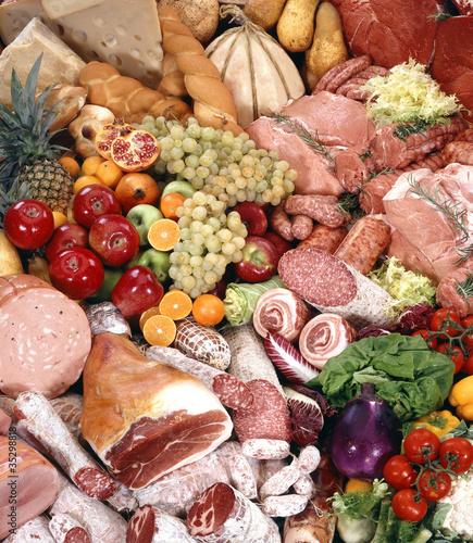 Keuken foto achterwand Assortiment cibo