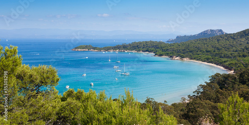 Canvas Prints Nice Panoramic view of Porquerolles island in France