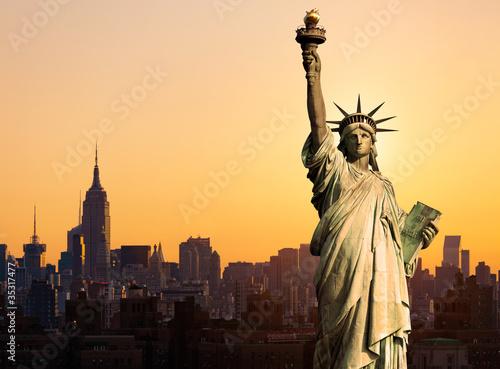 Fototapeta New York statue de la Liberté obraz