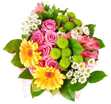 Bright Bouquet Isolated On White