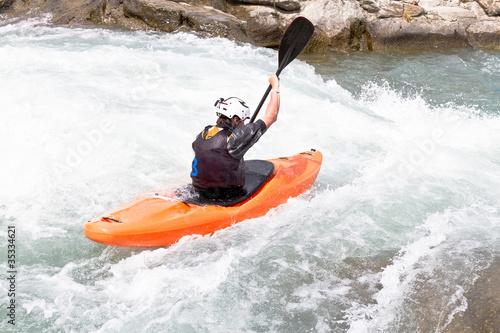 Fotografie, Obraz  kayak in corrente