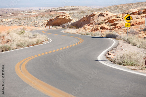 Keuken foto achterwand Route 66 Winding Road Nevada