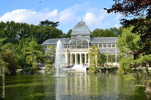 Fotobehang Madrid Palacio de Cristal en el Parque de El Retiro, Madrid