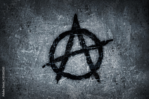 Photo anarchy symbol on wall